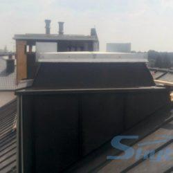 klapa dymowa na podkonstrukcji dach skosny